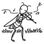 虫の音楽会イラスト